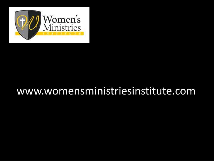 www.womensministriesinstitute.com