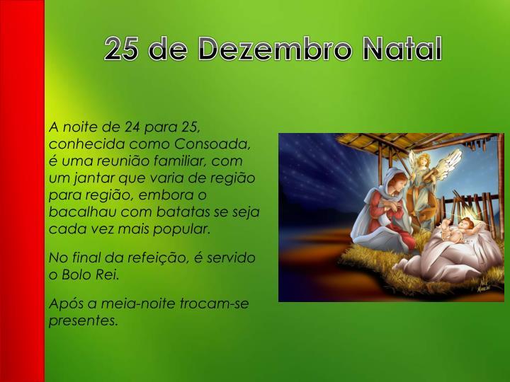 25 de Dezembro Natal