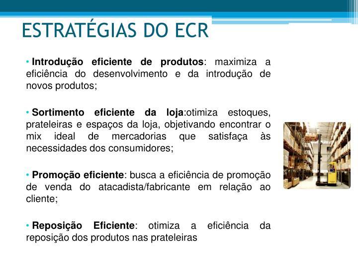 ESTRATÉGIAS DO ECR
