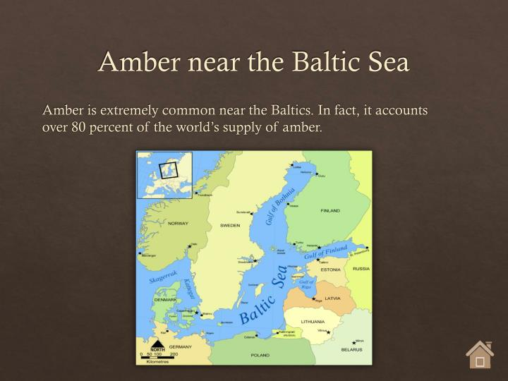 Amber near the Baltic Sea