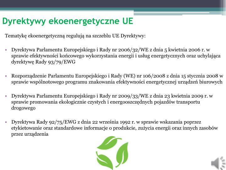 Dyrektywy ekoenergetyczne UE