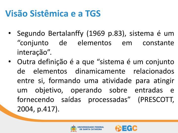 Visão Sistêmica e a TGS