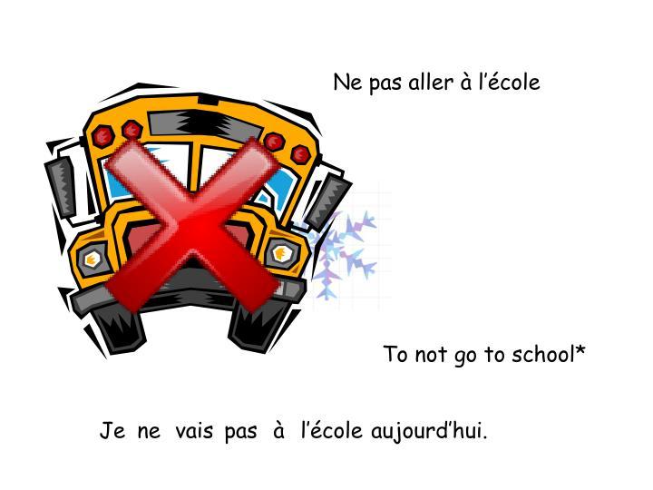 Ne pas aller à l'école