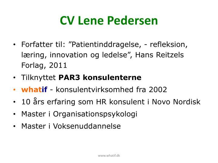 CV Lene Pedersen