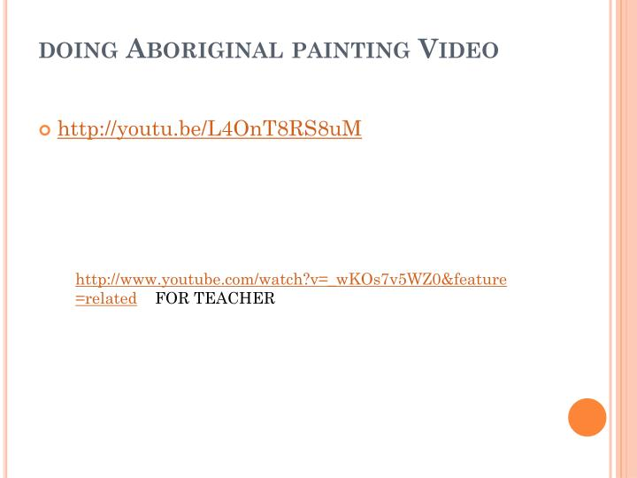 doing Aboriginal painting Video