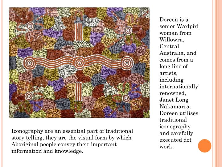 Doreen is a senior Warlpiri woman from