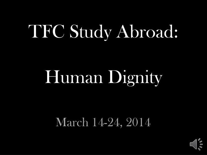 TFC Study Abroad: