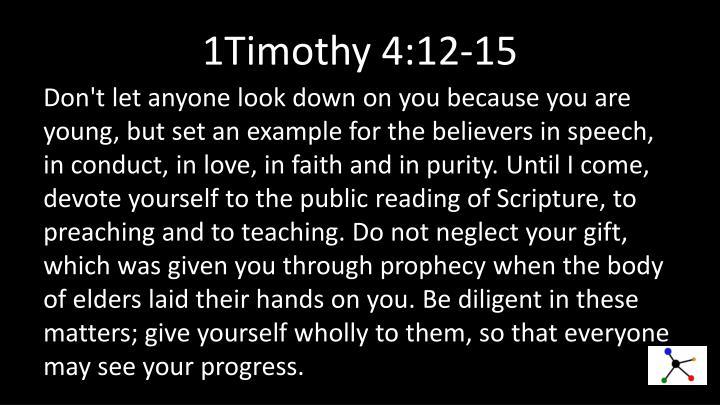 1Timothy 4:12-15