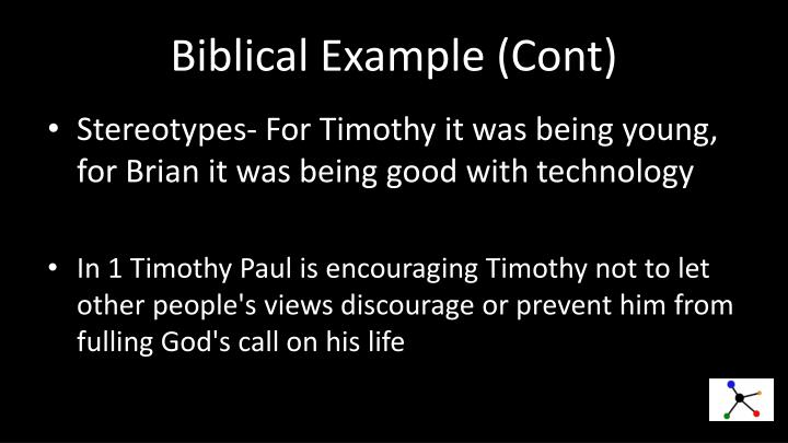 Biblical Example (
