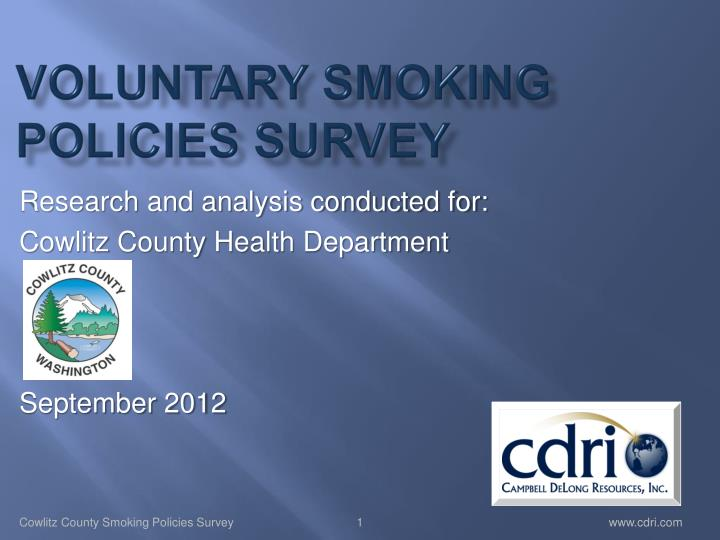 Voluntary smoking policies survey