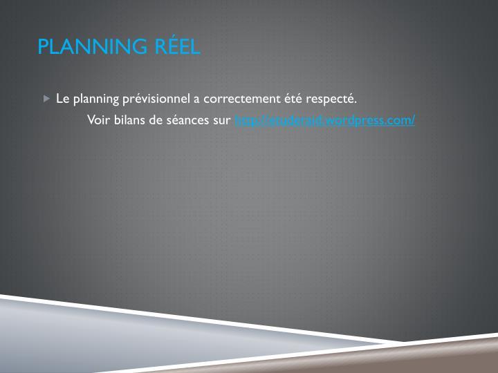 Planning réel