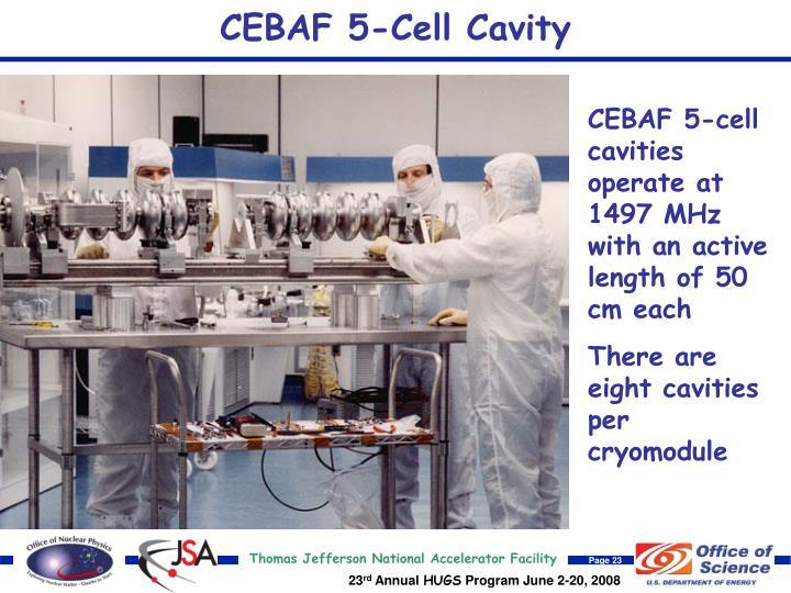 CEBAF 5-Cell Cavity