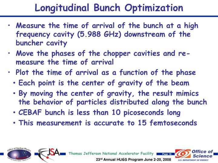Longitudinal Bunch Optimization