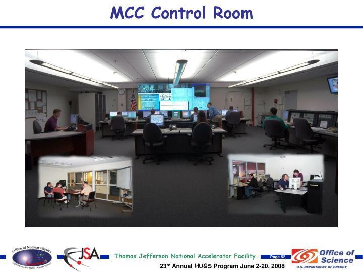 MCC Control Room