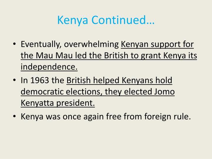 Kenya Continued…