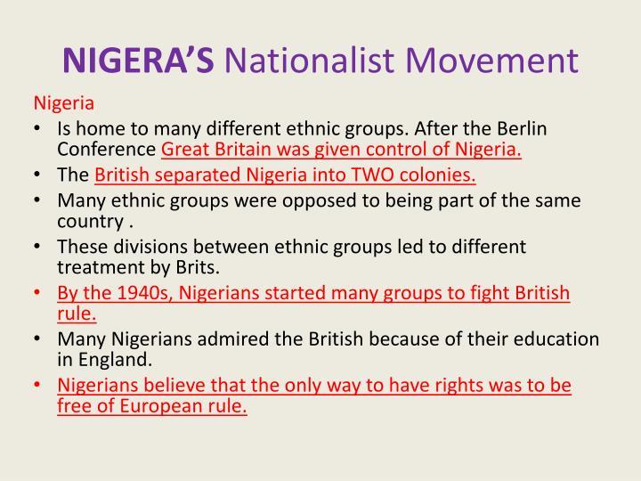 NIGERA'S