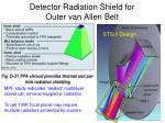 detector radiation shield for outer van allen belt