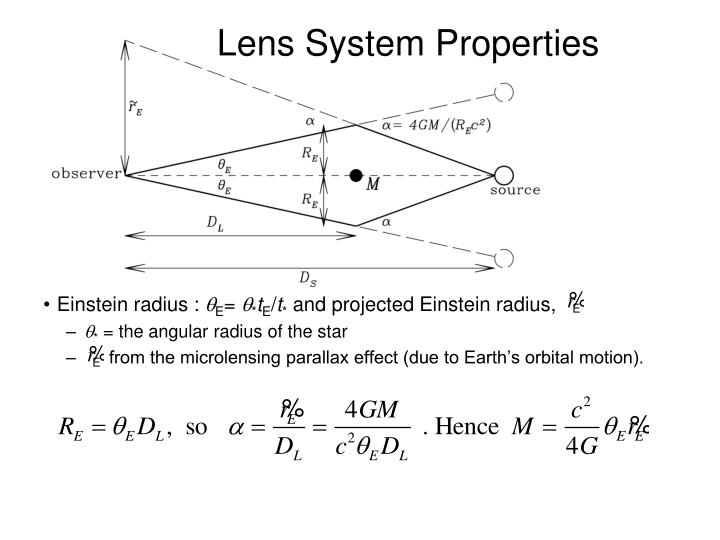 Lens System Properties