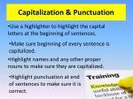 capitalization punctuation