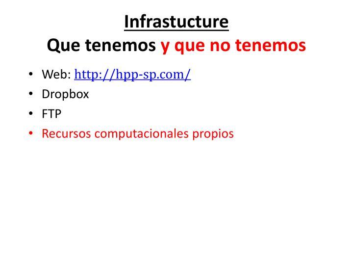 Infrastucture