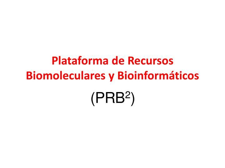Plataforma de Recursos Biomoleculares y