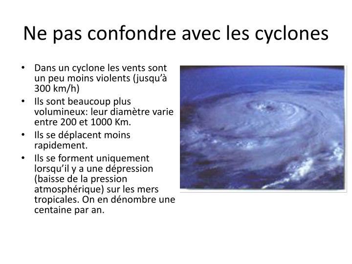 Ne pas confondre avec les cyclones