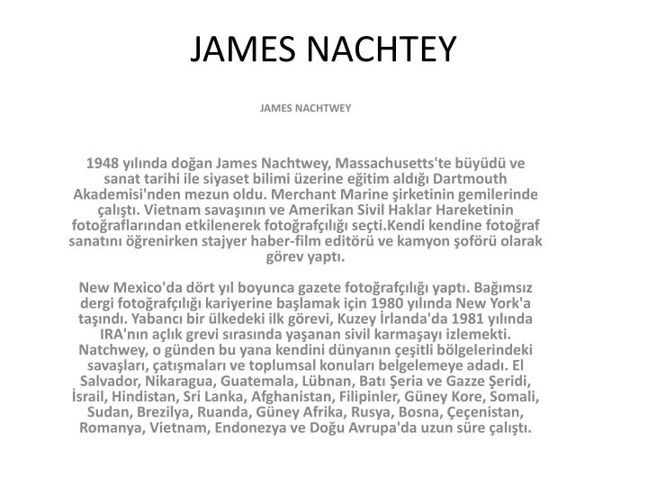 James nachtey
