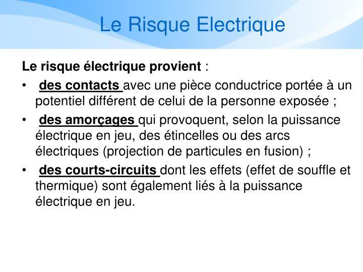 Le Risque Electrique