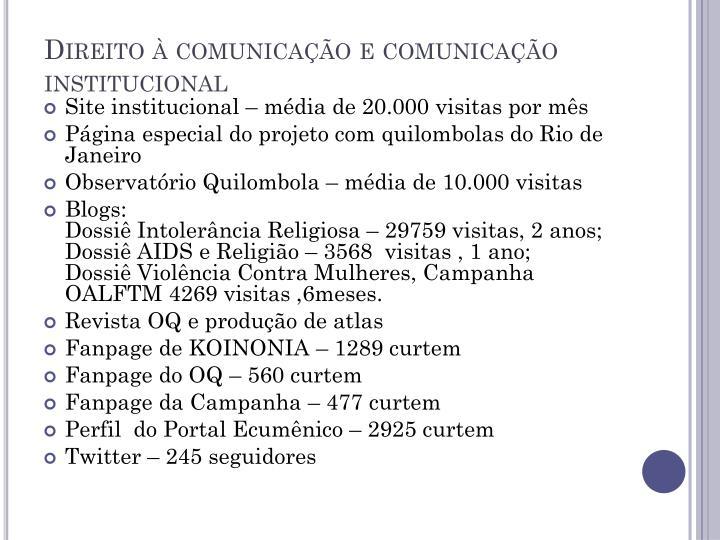 Direito à comunicação e comunicação
