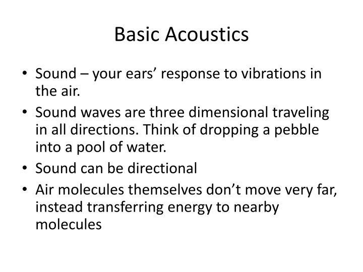 Basic Acoustics