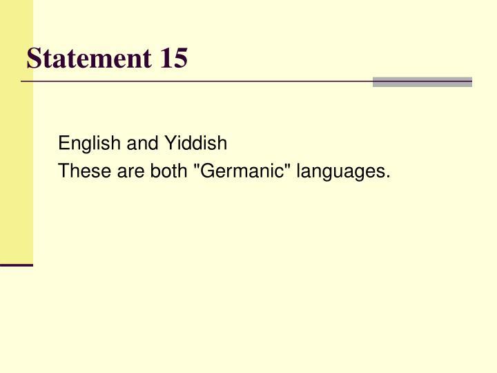 Statement 15