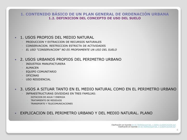 1. USOS PROPIOS DEL MEDIO NATURAL