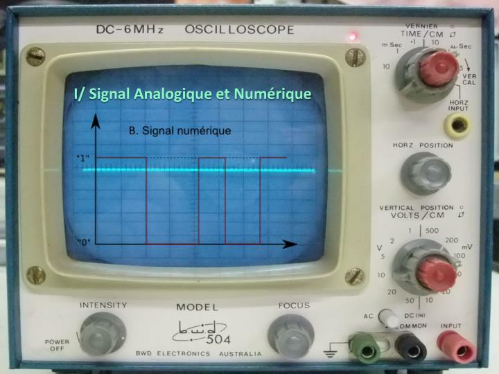 I/ Signal Analogique et Numérique