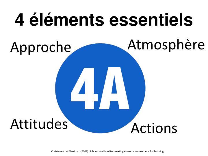 4 éléments essentiels