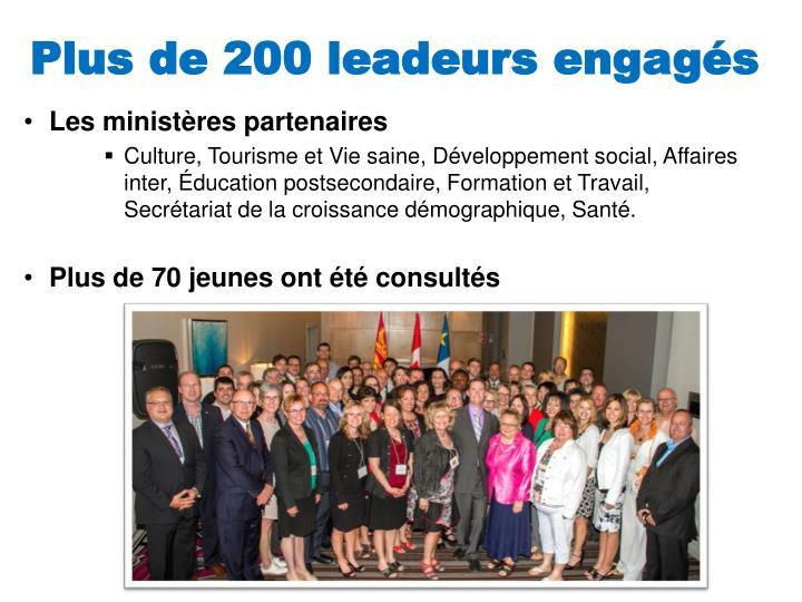 Plus de 200 leadeurs engagés