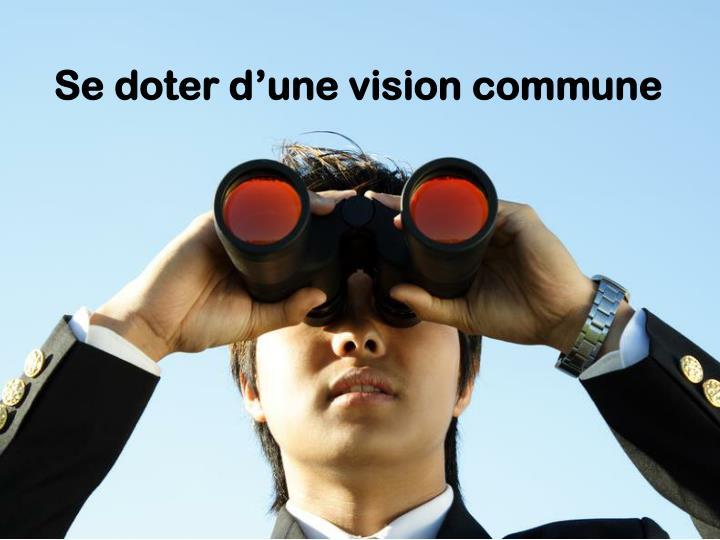 Se doter d'une vision commune