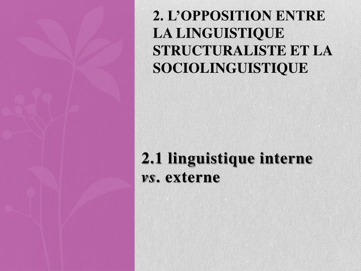 2.1 linguistique interne