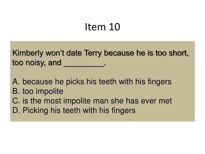 Item 10