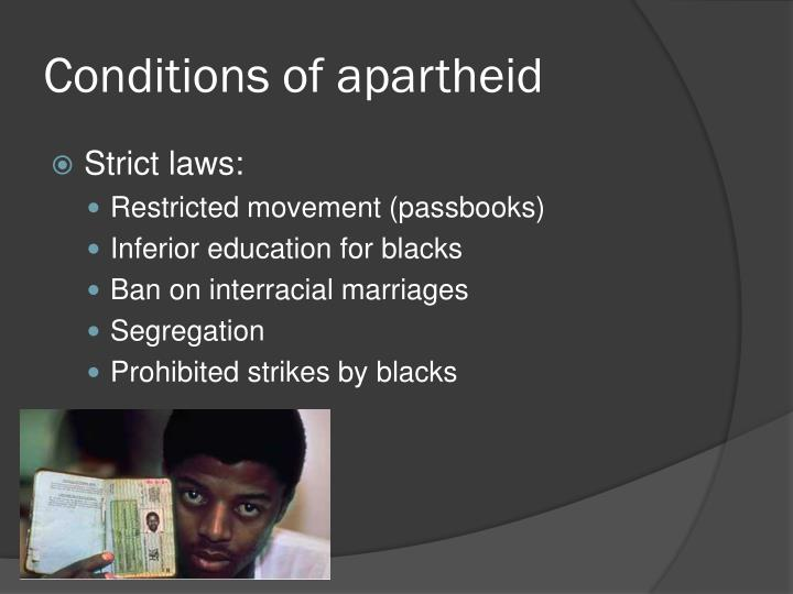 Conditions of apartheid