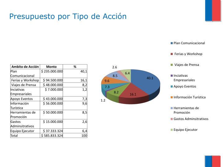 Presupuesto por Tipo de Acción