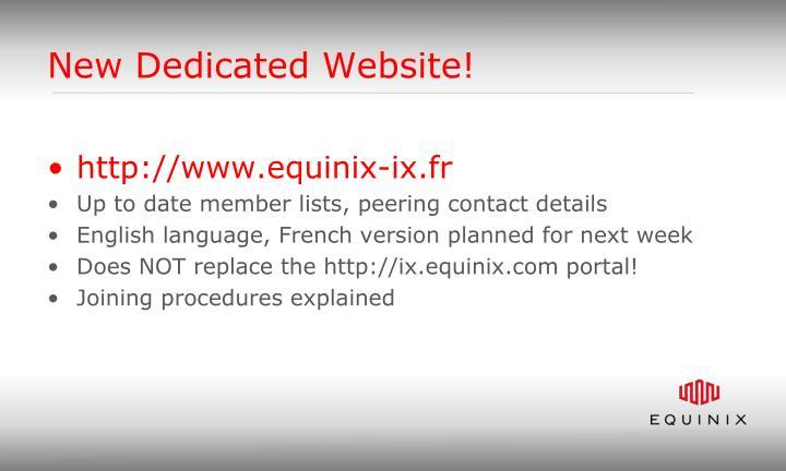 New Dedicated Website!