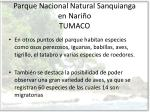 parque nacional natural sanquianga en nari o tumaco