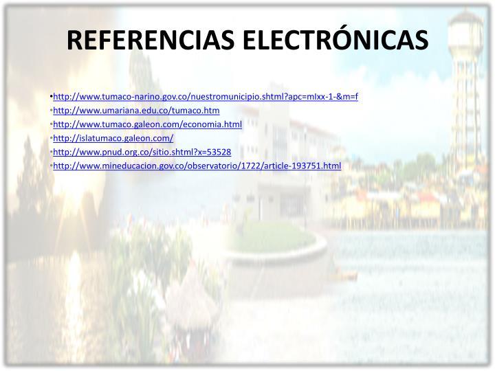 REFERENCIAS ELECTRÓNICAS