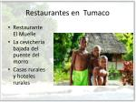 restaurantes en tumaco
