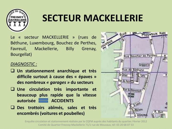 SECTEUR MACKELLERIE