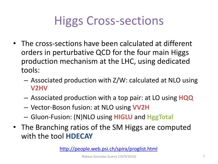 Higgs Cross-sections