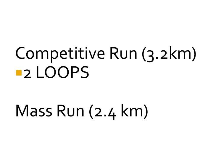 Competitive Run (3.2km)