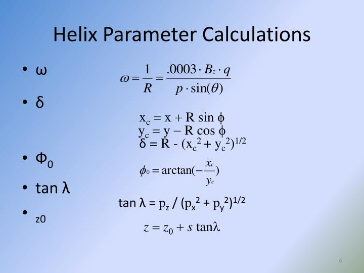 Helix Parameter Calculations