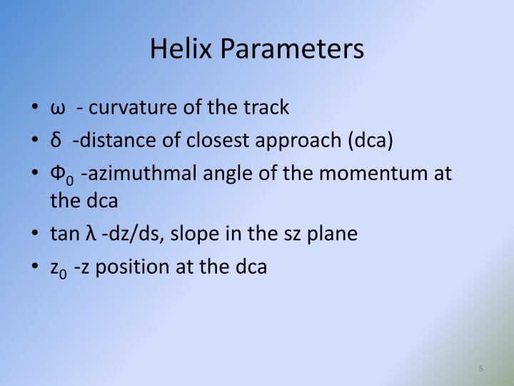 Helix Parameters
