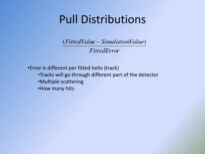 Pull Distributions